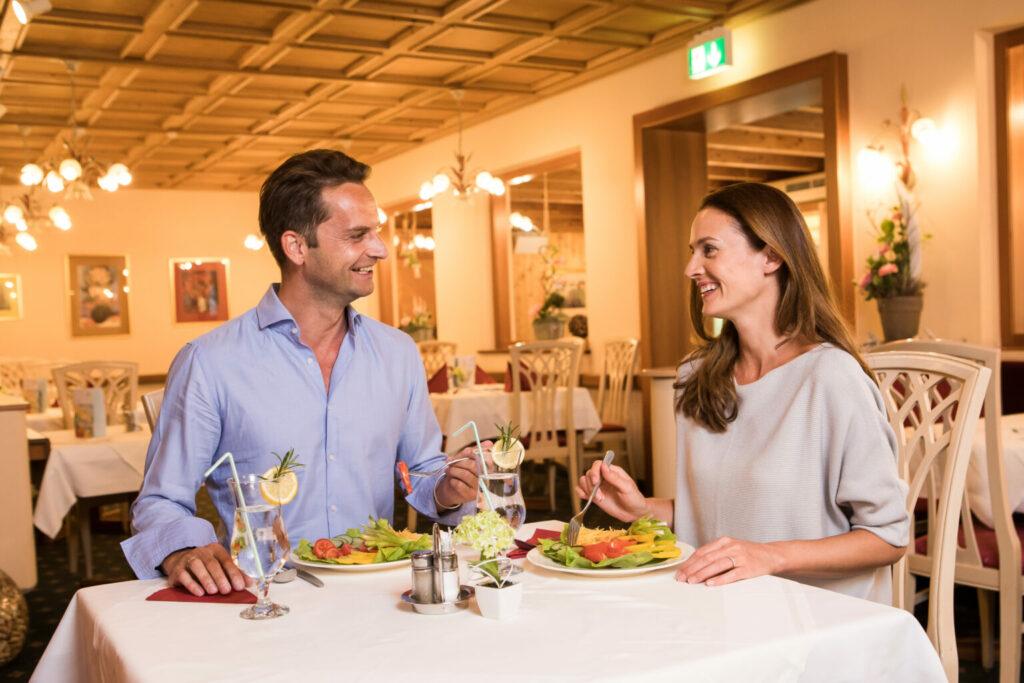 Abendessen im Kurhotel